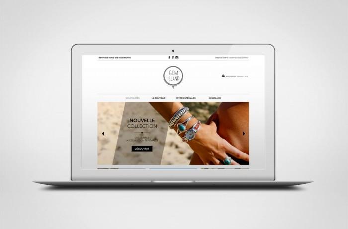 Site e-commerce Gem-island